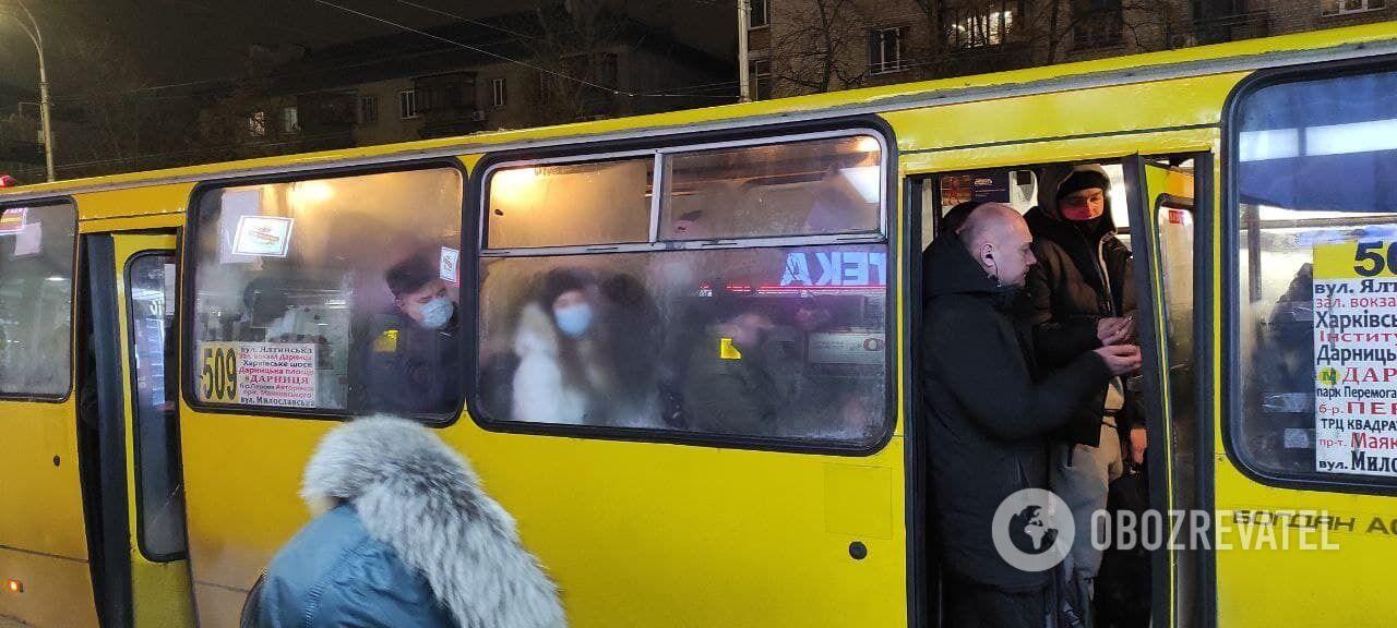 Автобусы переполнены