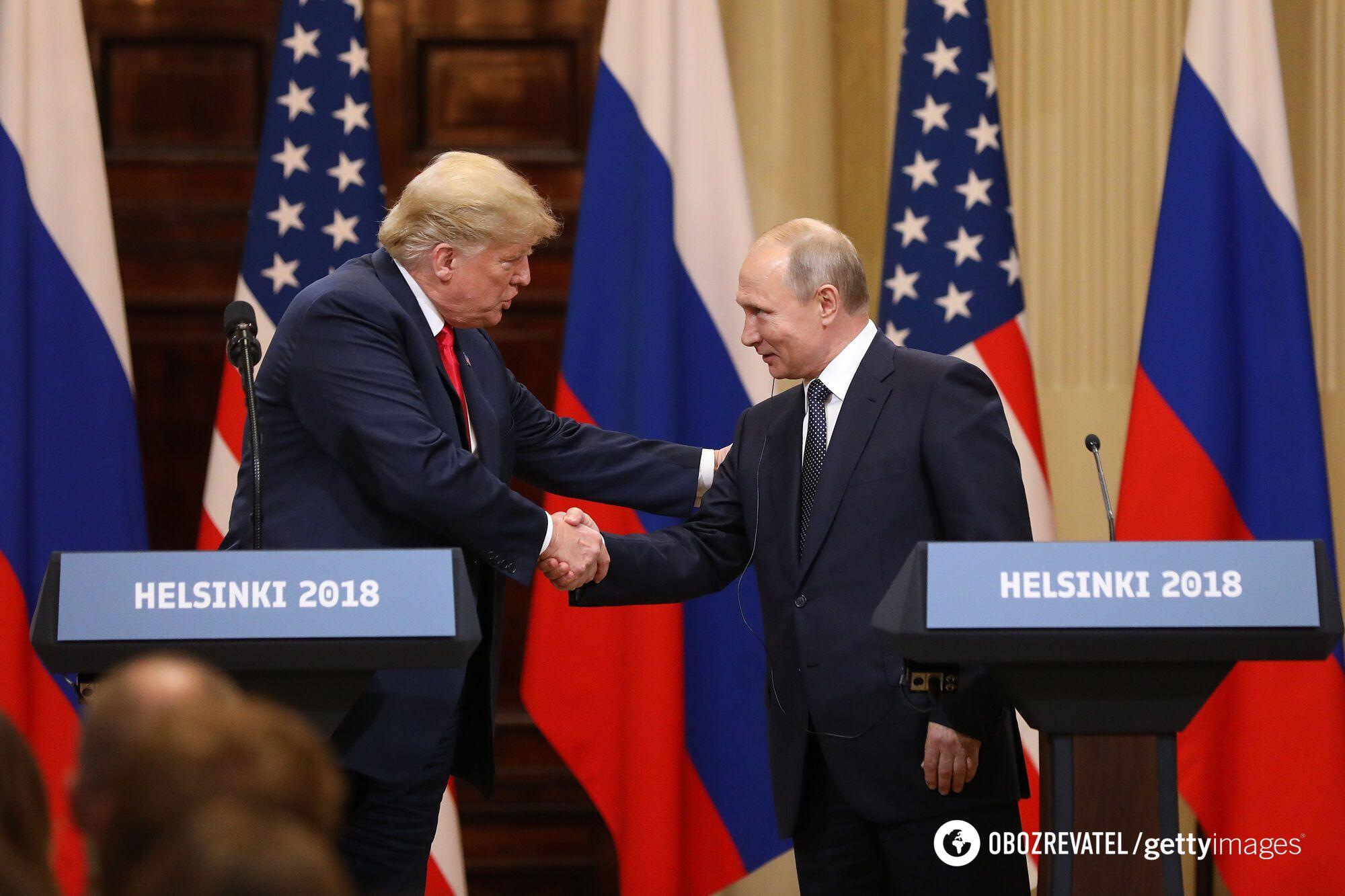 Зустріч американського президента Дональда Трампа з главою РФ Володимиром Путіним у Гельсінкі 2018 року