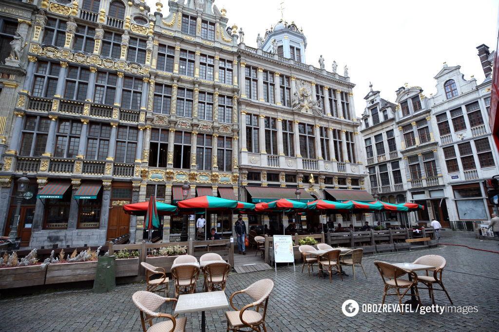 Вулиці бельгійських міст спорожніли.