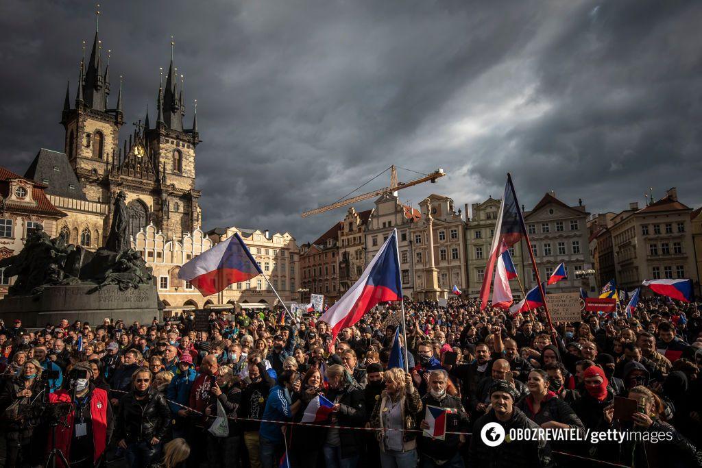 У Празі протестували проти локдауну