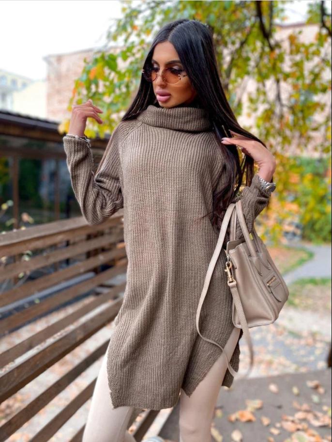 Удлиненный оверсайз-свитер