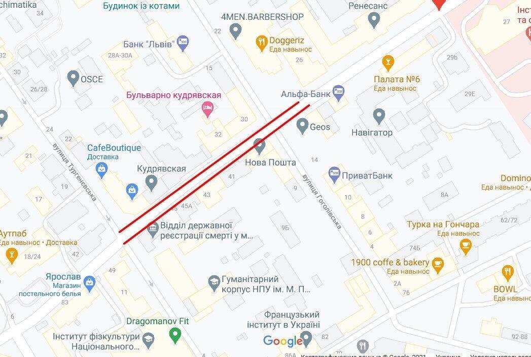 Нападение произошло на ул. Бульварно-Кудрявской