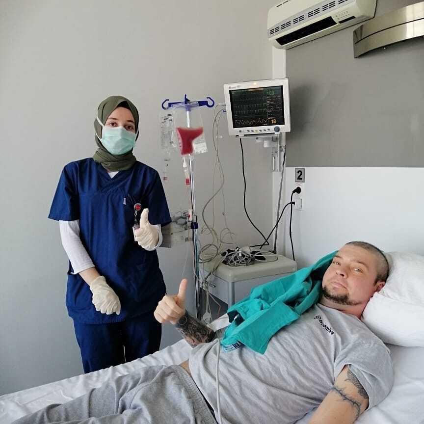После второй трансплантации костного мозга.