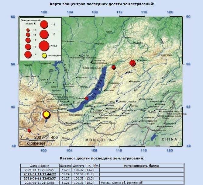 Эпицентр землетрясения.