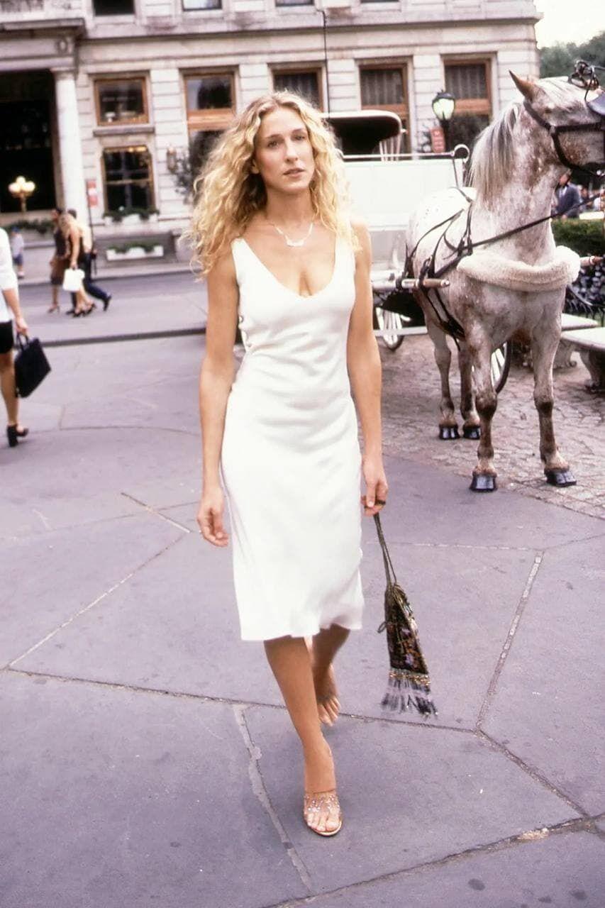 Біла сукня міді Керрі