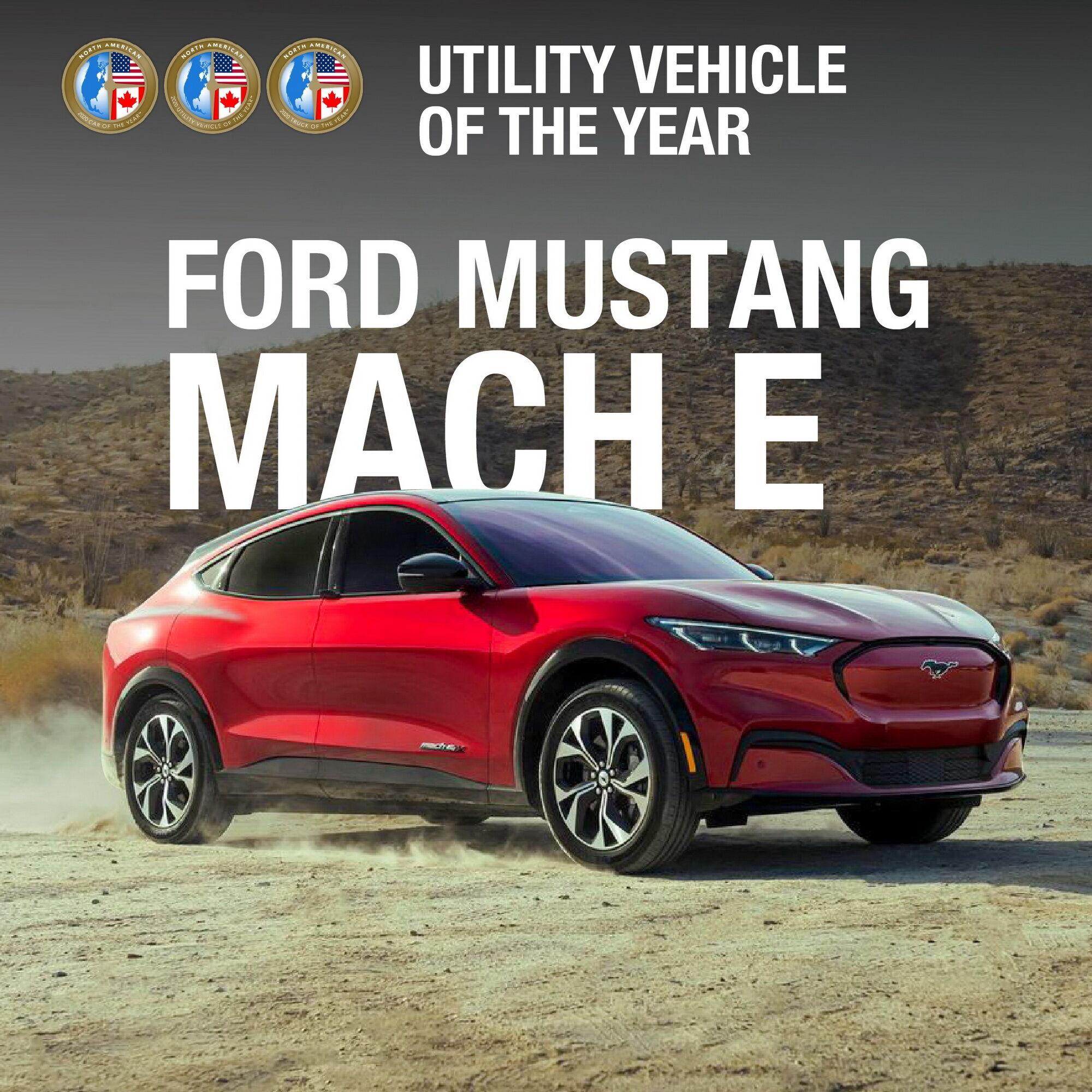 """В категории """"Кроссоверы"""" приз достался первому полностью электрическому кроссоверу Ford – Mustang Mach E."""