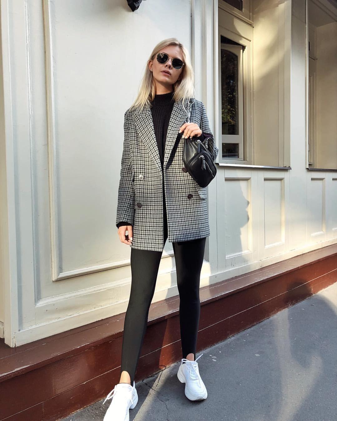 Леггинсы с пиджаком