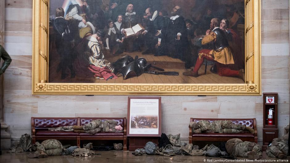 Гвардійці спали у Капітолії