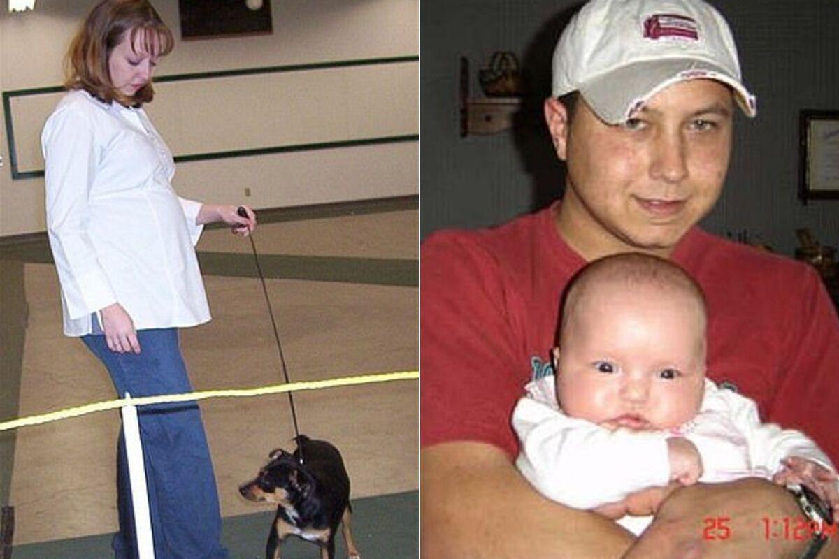 Боббі Джо Стіннетт і Зеб Стіннетт із донькою, яку викрала Монтгомері