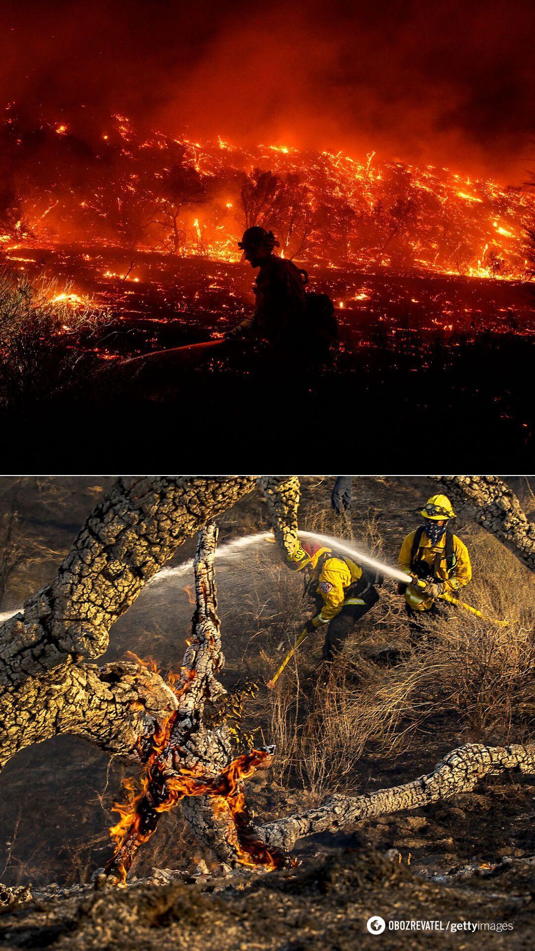 Пожар в каньоне Сильверадо на востоке округа Ориндж в штате Калифорния, декабрь 2020-го