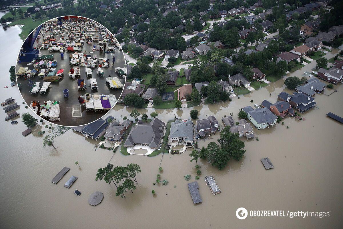 Ураган Харви вызвал катастрофические наводнения в юго-восточной части штата Техас, погибли не менее 60 человек, тысячи остались без жилья