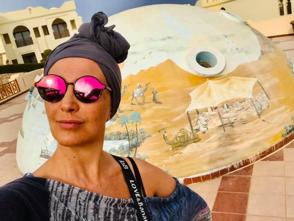 Егорова в отпуске в Египте