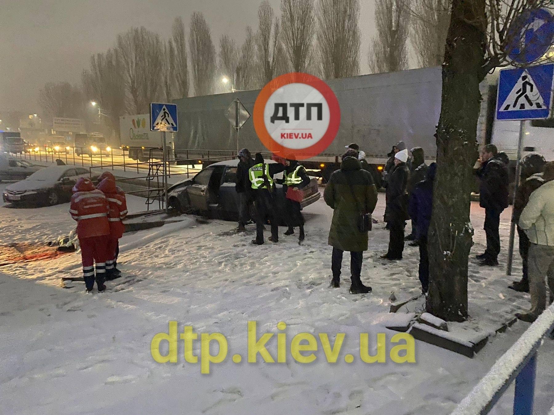 Авария под Киевом 14 января