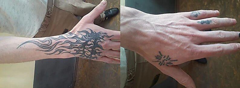 Татуировки на руках разыскиваемого Сергея Бойкова