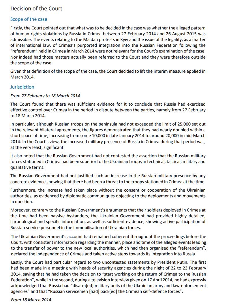 Украина одержала знаковую победу в деле против России по Крыму: все детали