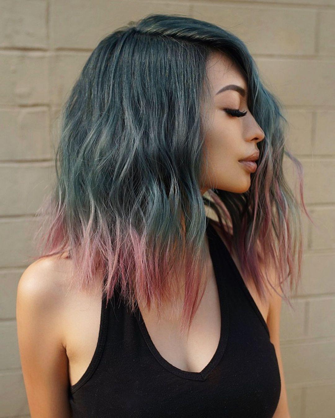 Окрашивания волос в разные цвета