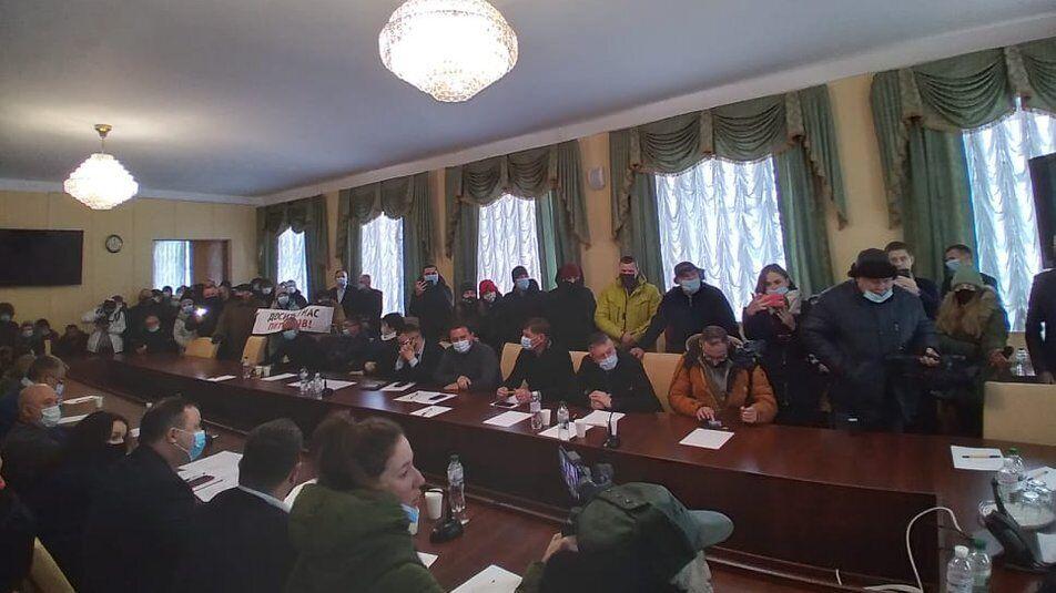 Учасники акції вислухали керівництво області