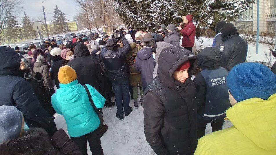 Протестувальники побували біля комунальних підприємств...