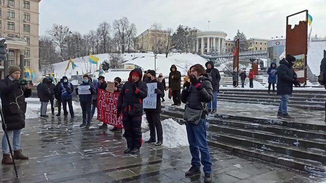 В акції взяли участь кілька десятків людей