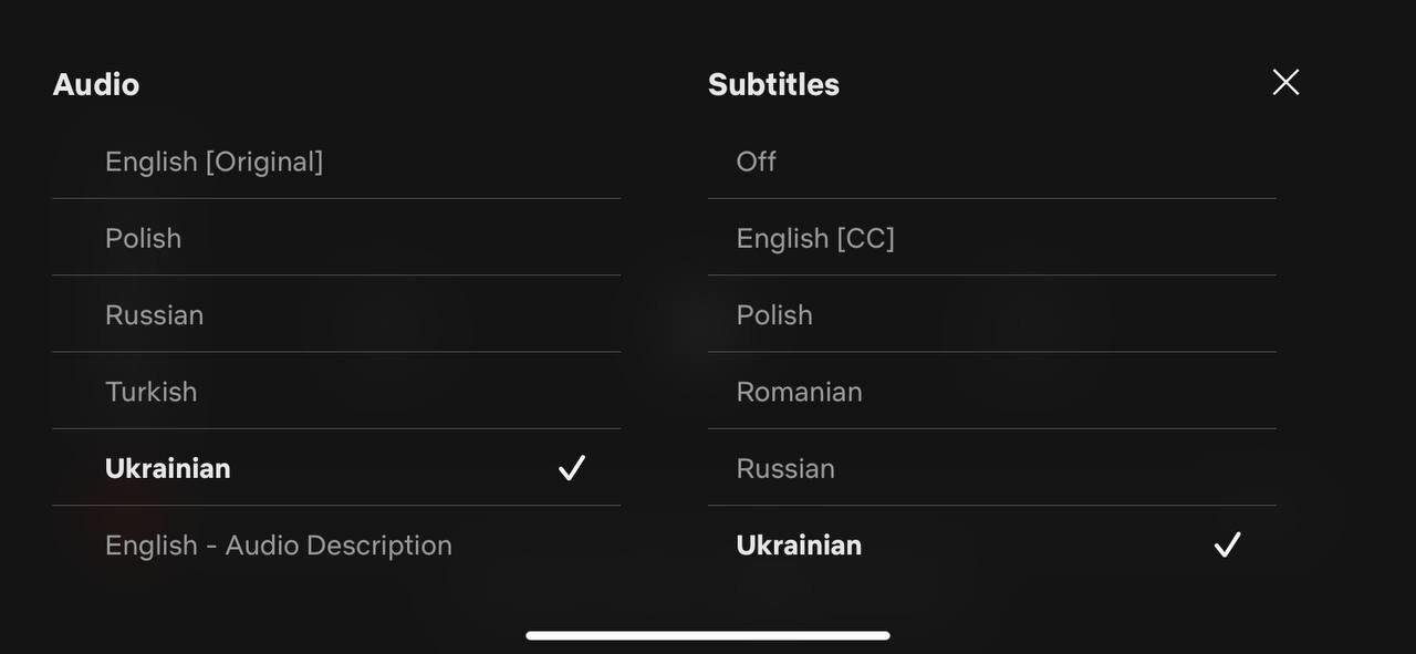 Netflix выпустил фильм с украинской озвучкой