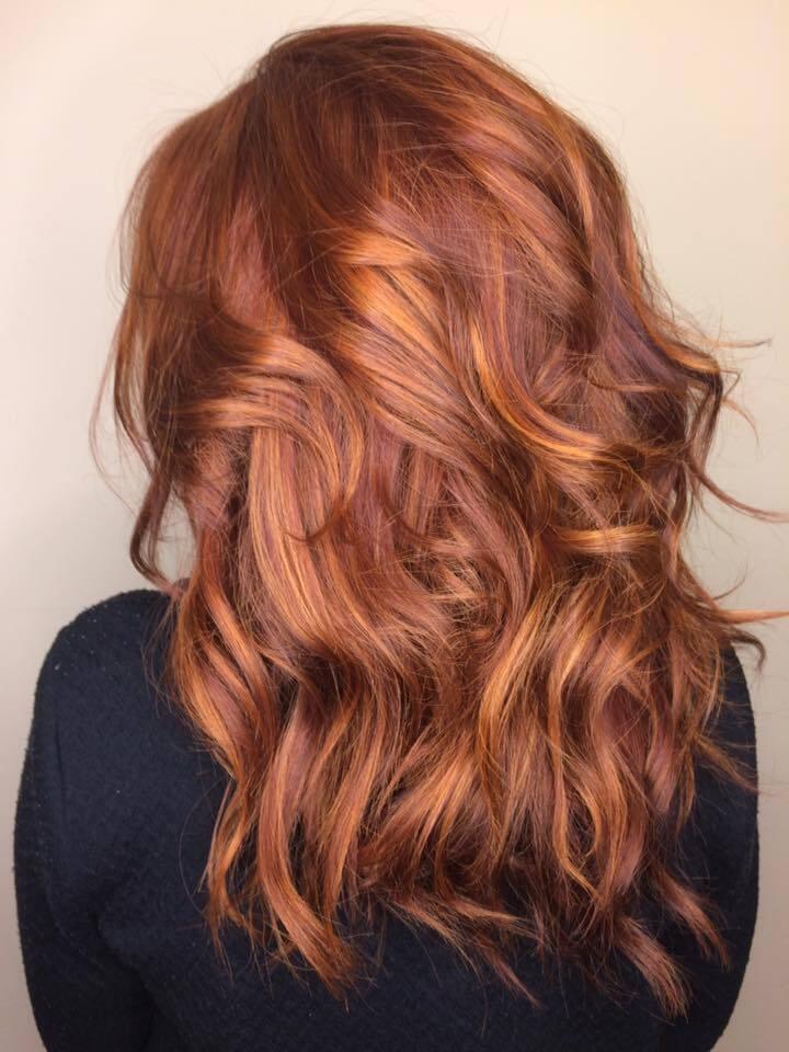 Медный рыжий цвет волос