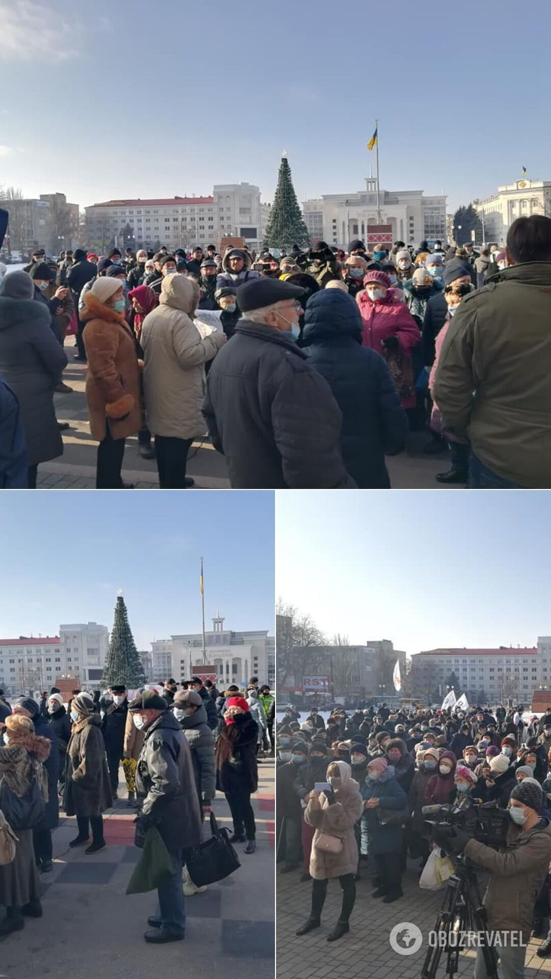 Акция протеста в Чернобаевке