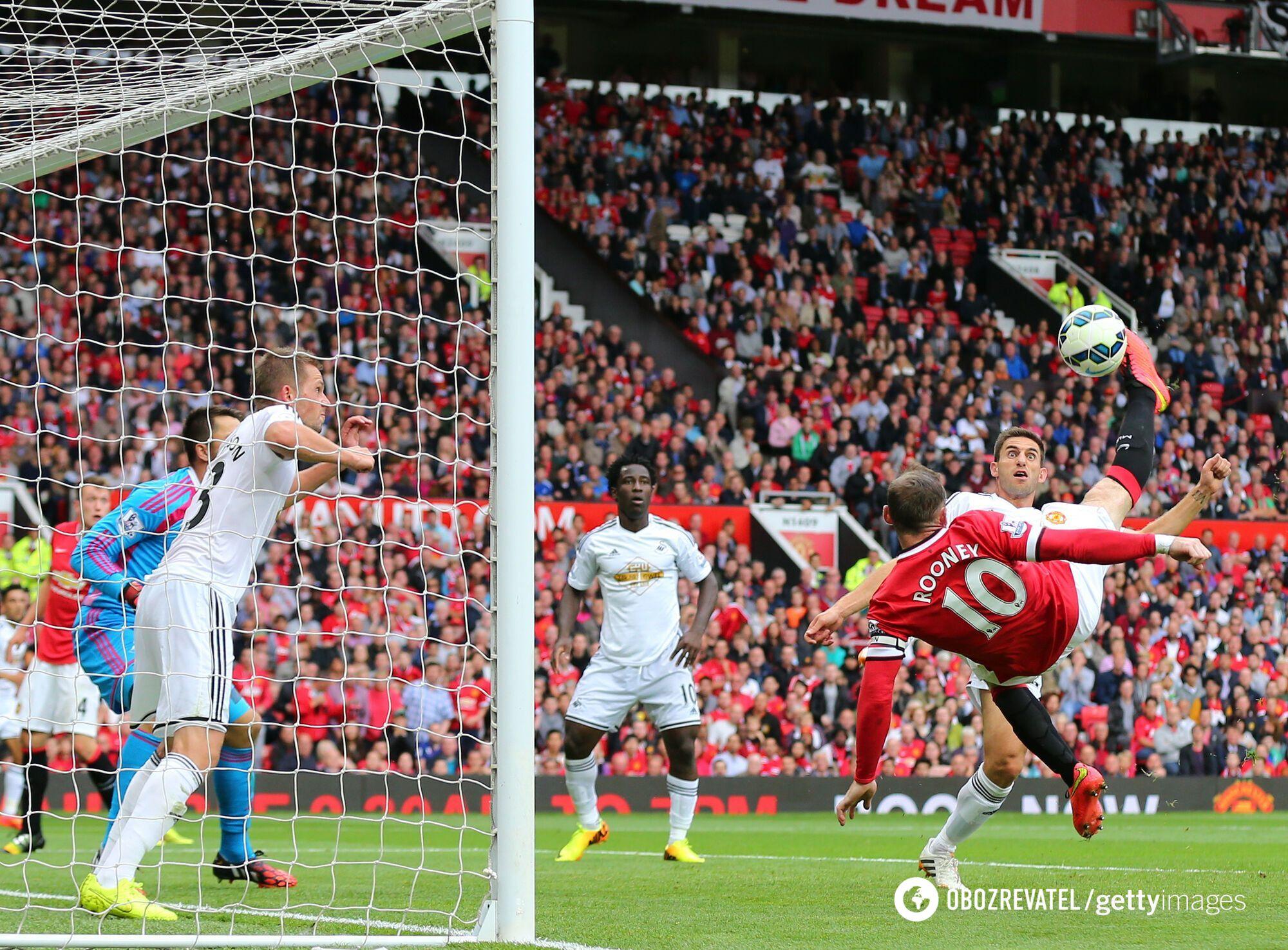 """Найзнаменитіший гол за """"Манчестер Юнайтед"""" Вейн Руні забив ударом через себе"""