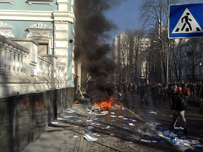 Улица Липская 18 февраля 2014 года.