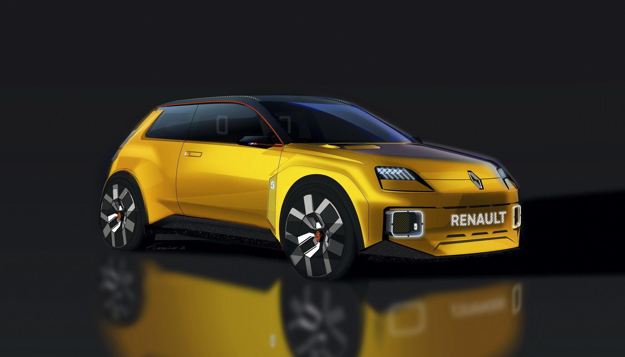 Renault 5 Prototype создан командой под руководством Жиля Видаля