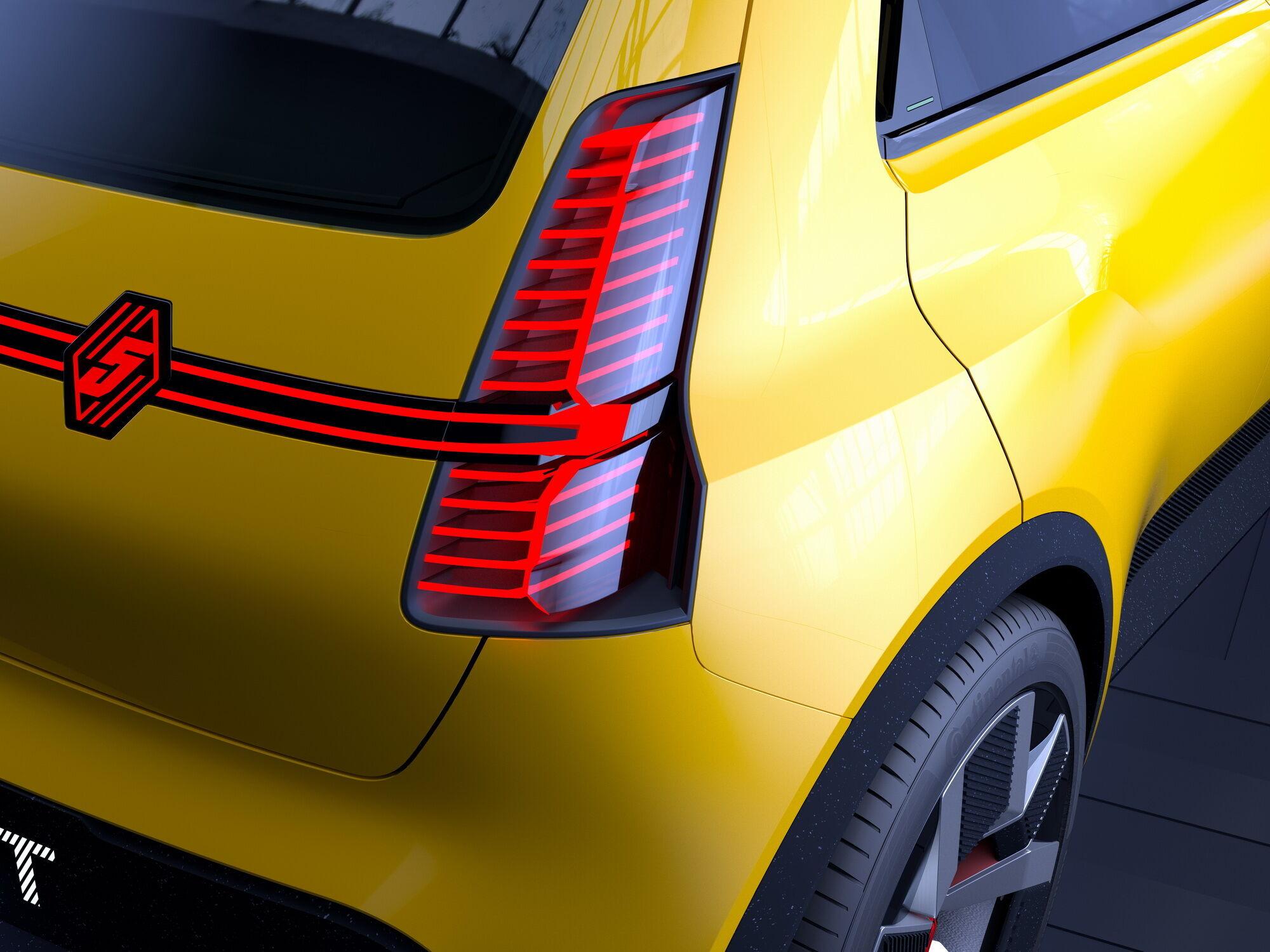 Вписанные в задние стойки светодиодные фонари – отсылка к первому поколению Renault 5