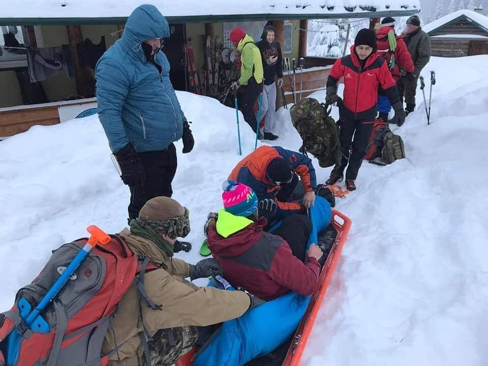 Эвакуация туриста