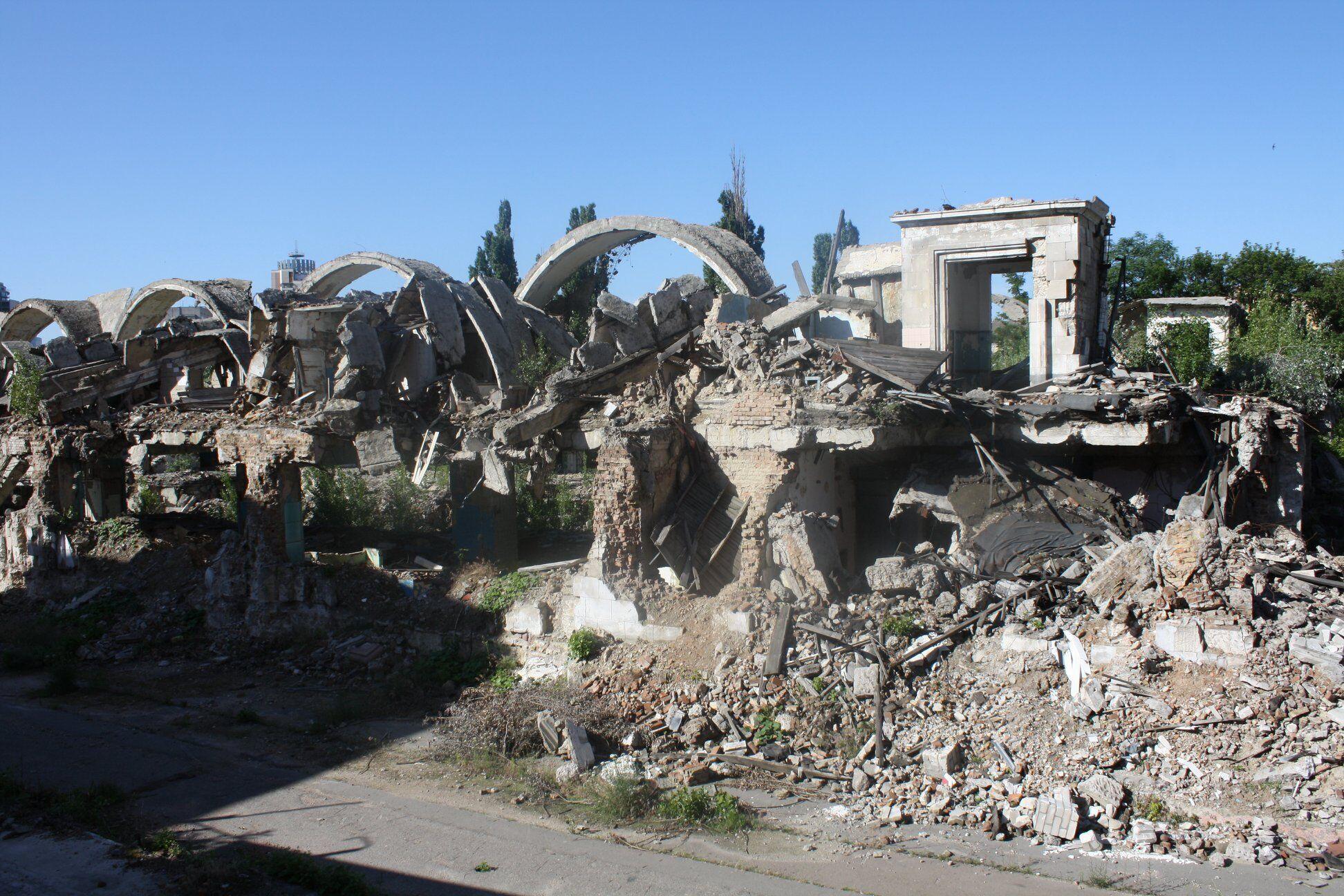 Руины Сенного рынка в Киеве