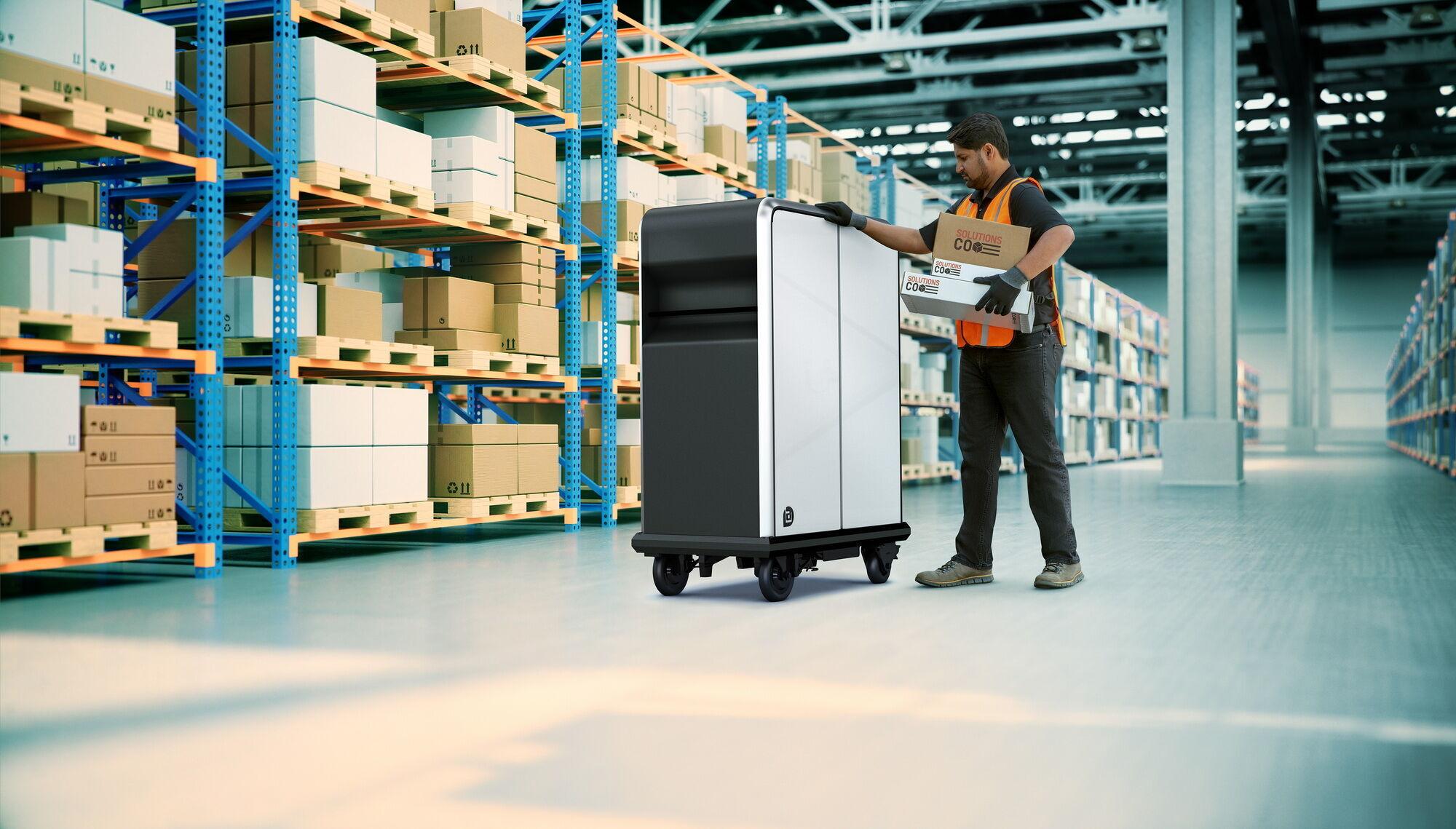 Роботизований контейнер BrightDrop EP1 має вантажопідйомність 90 кг та об'єм 0,65 м3