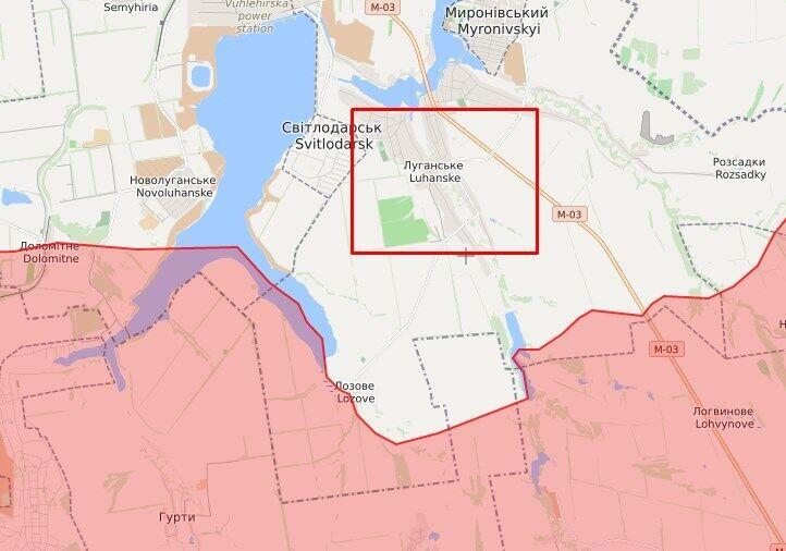Окупанти обстрілювали район Луганського.