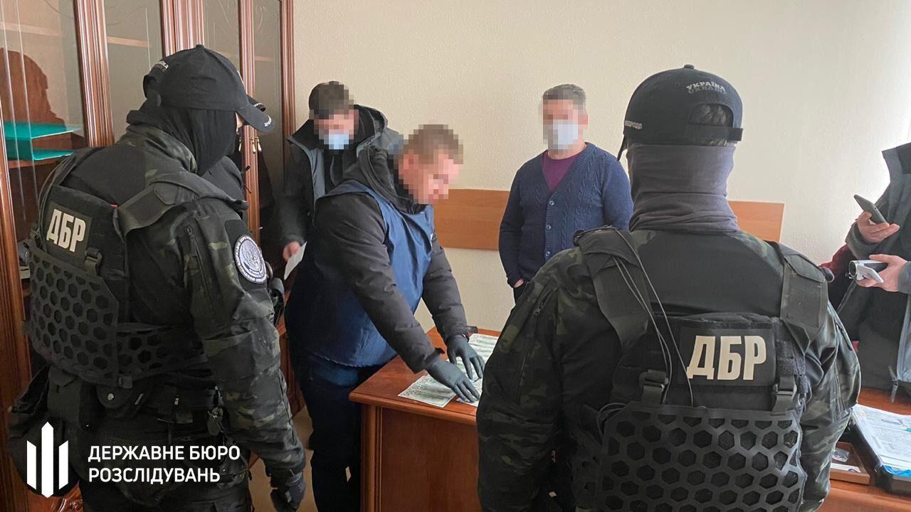 Сотрудники ГБР на задержании