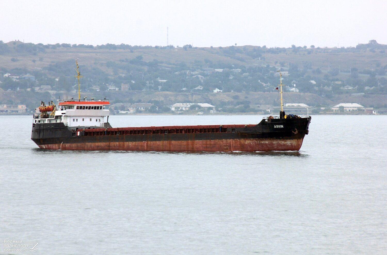 Затонувший у берегов Турции сухогруз Арвин. Фото 2017 года