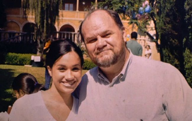 Меган Маркл с отцом.