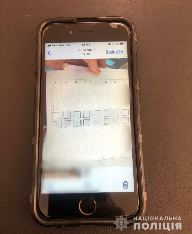 Фото бюллетеня с уже заполненной графой на мобильном