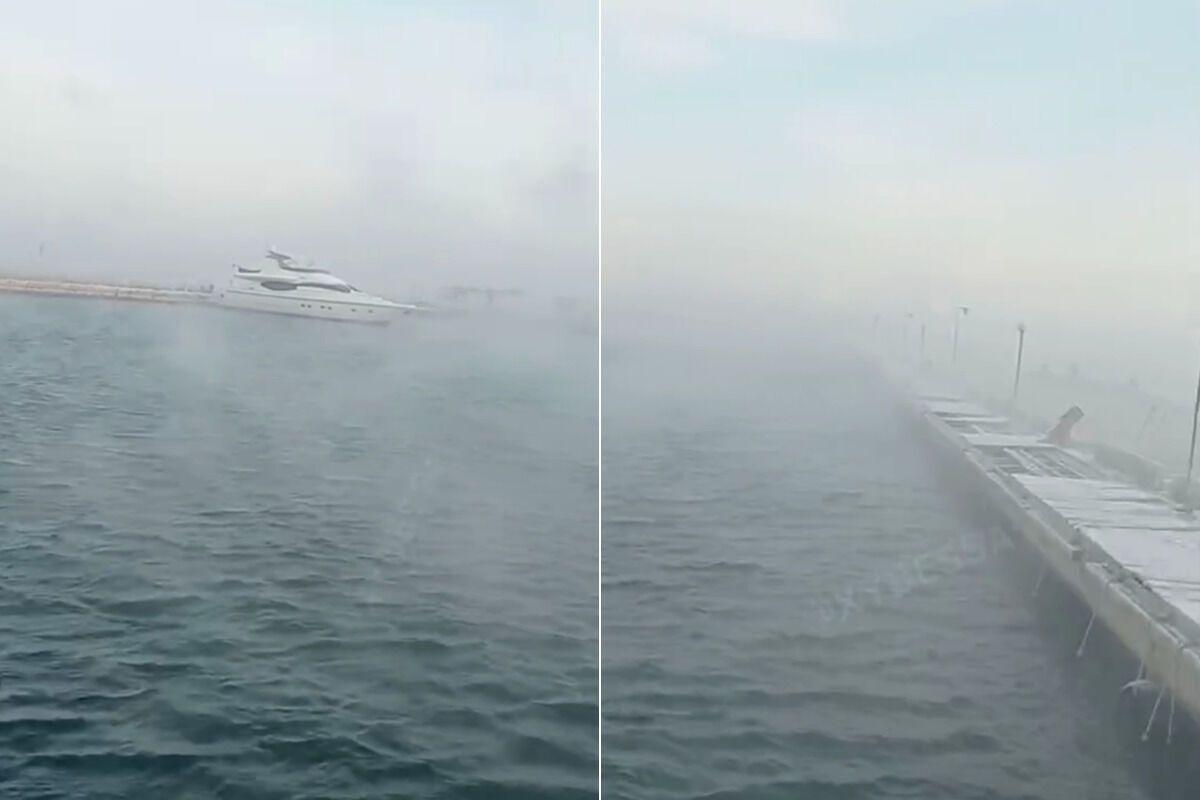 Дымка на море в Одессе
