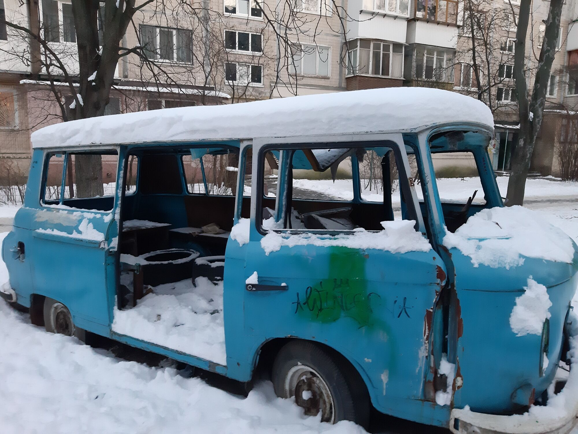 Автобус, де знайшли труп