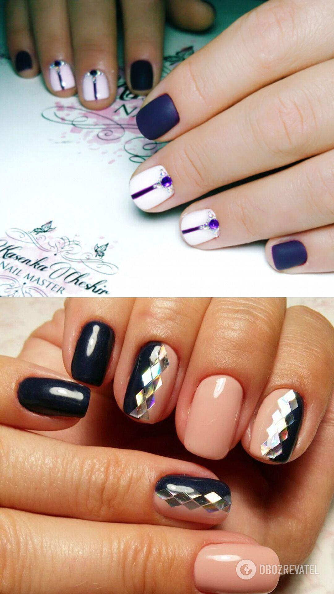 Вытянутый рисунок на ногтях