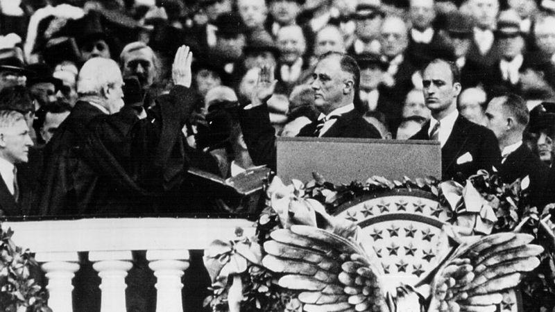 Первая инаугурация Франклина Рузвельта.