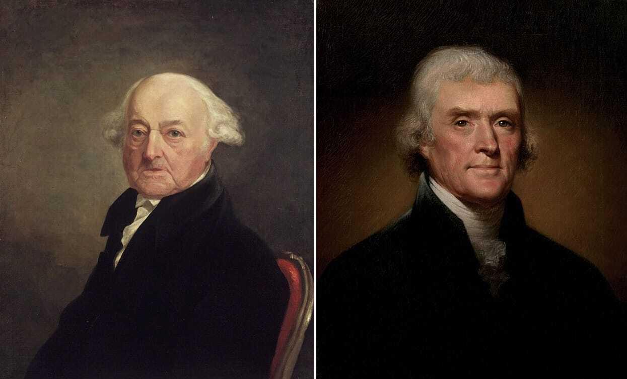 Джон Адамс и Томас Джефферсон (второй и третий президенты США соответственно)