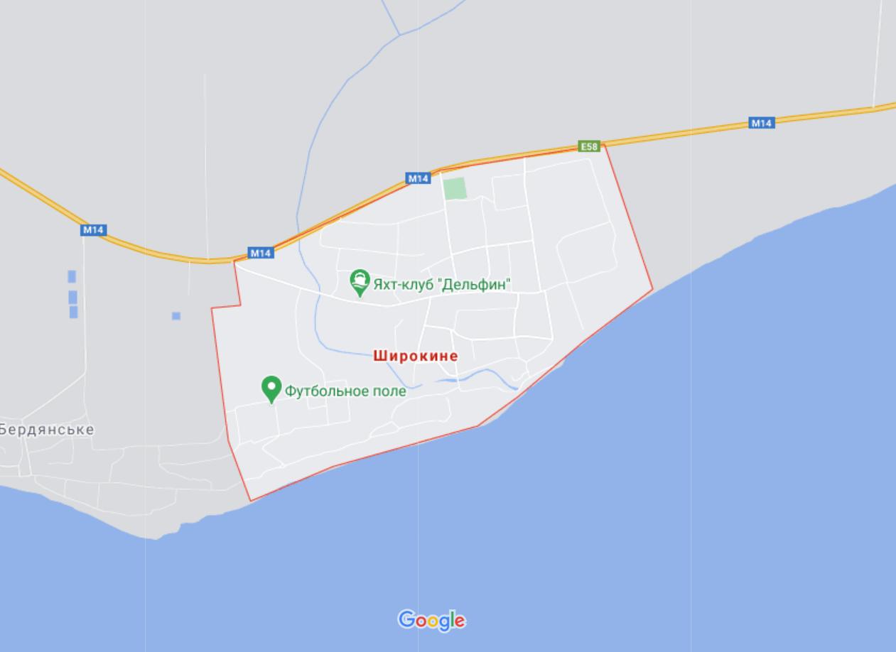 Карта Широкиного