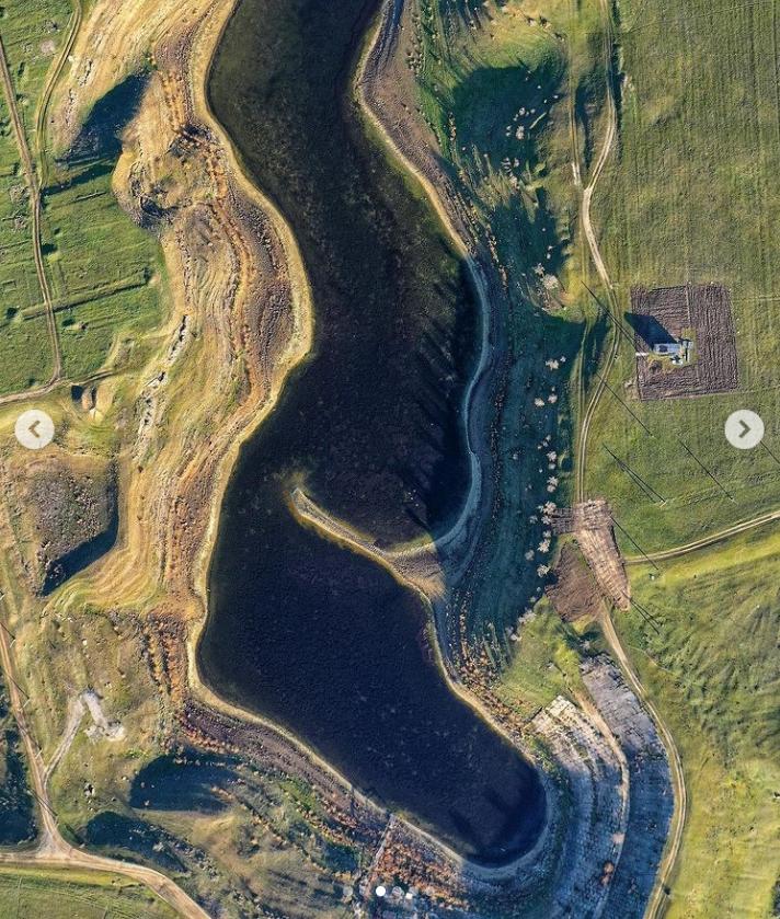 """Раніше зі супутника в озері """"генеральському"""" можна було побачити острів."""