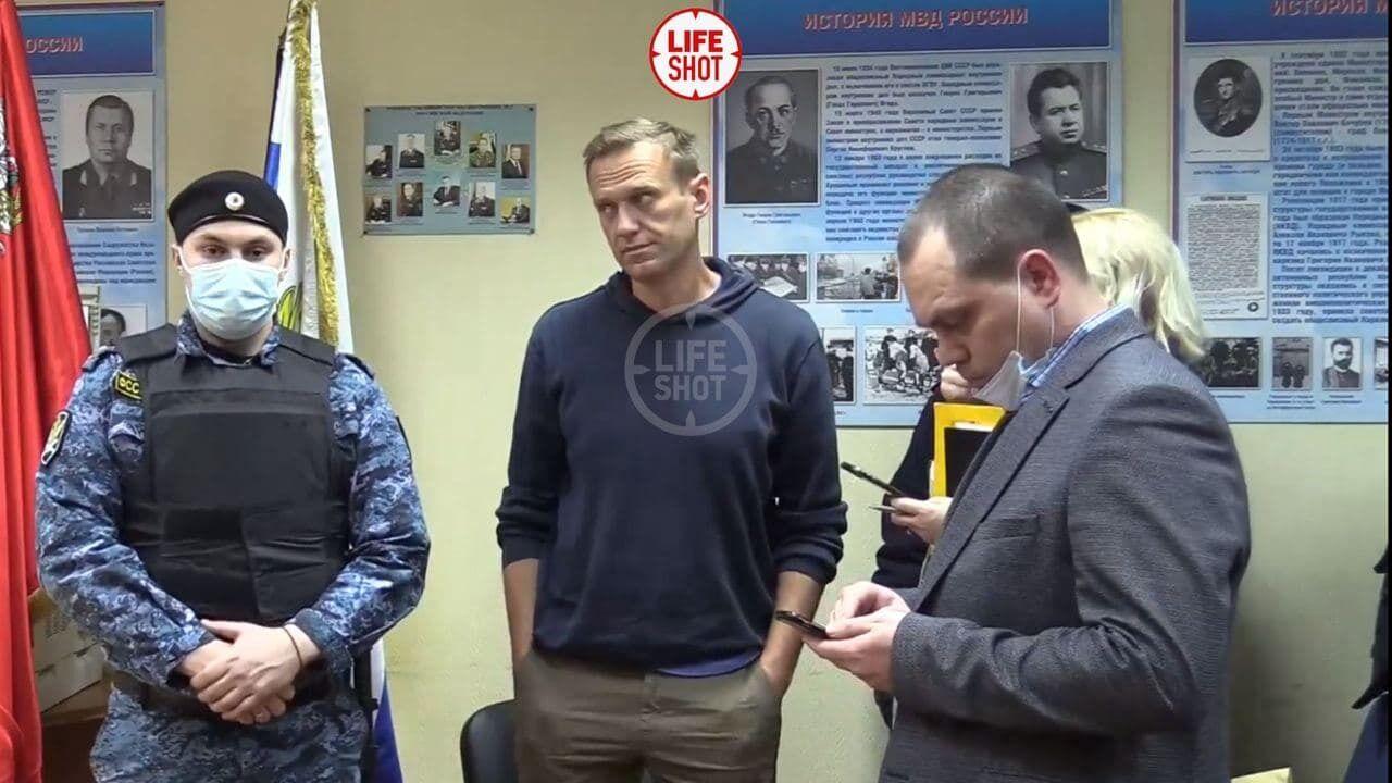 Термін тримання Навального під вартою – до 15 лютого