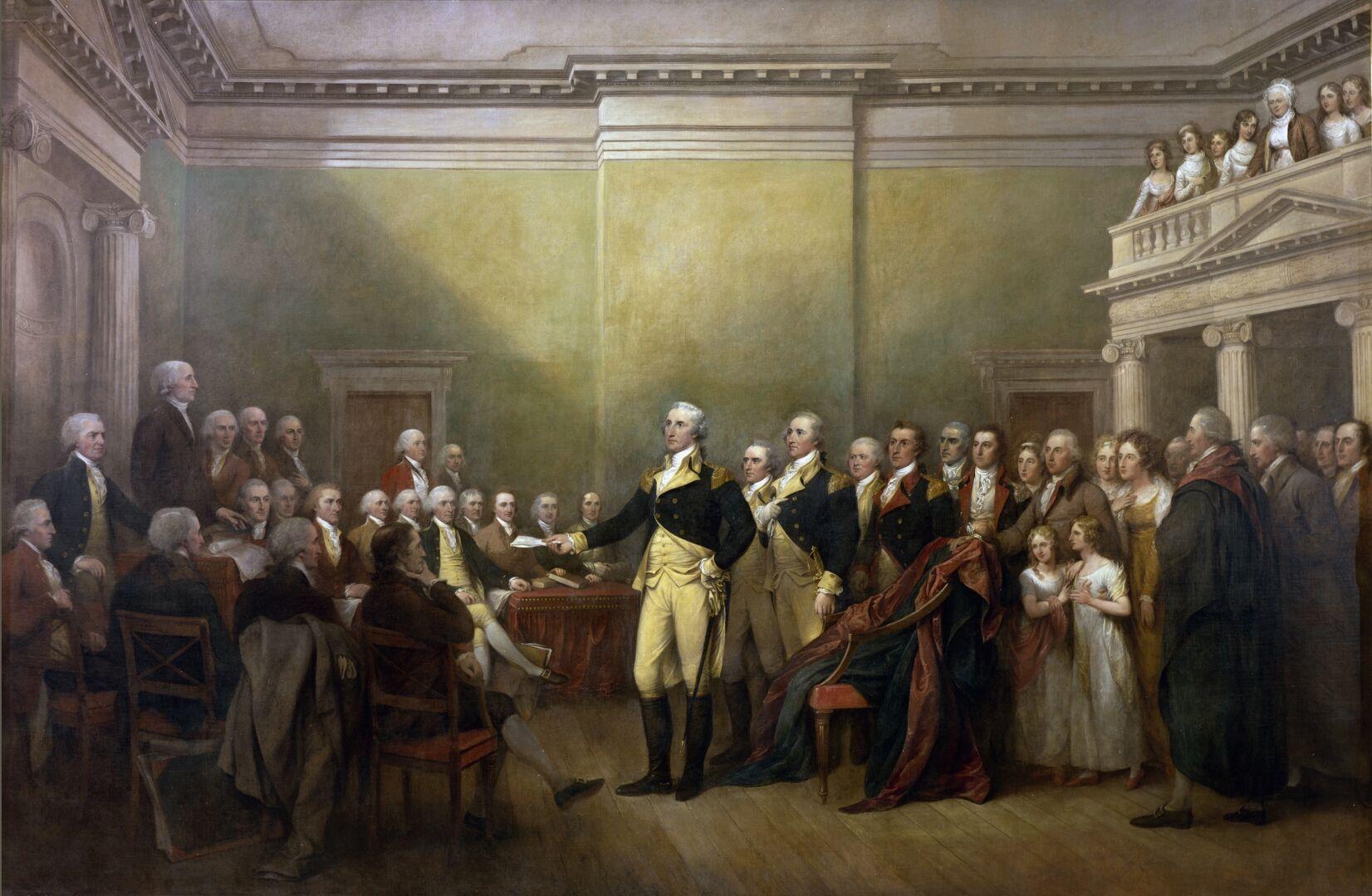 Джордж Вашингтон приносит присягу
