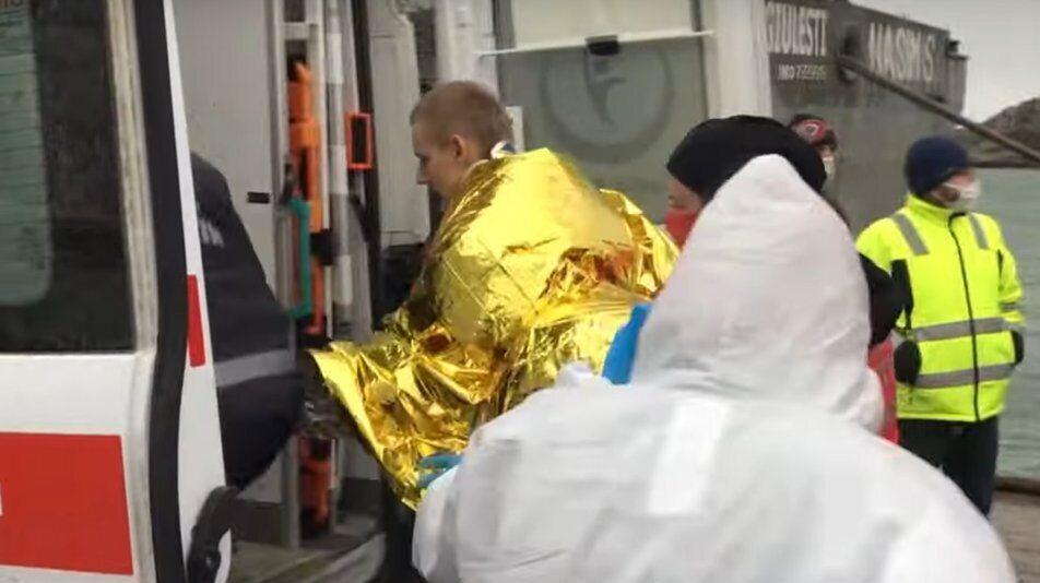 Врятований українець Владислава Затерок.