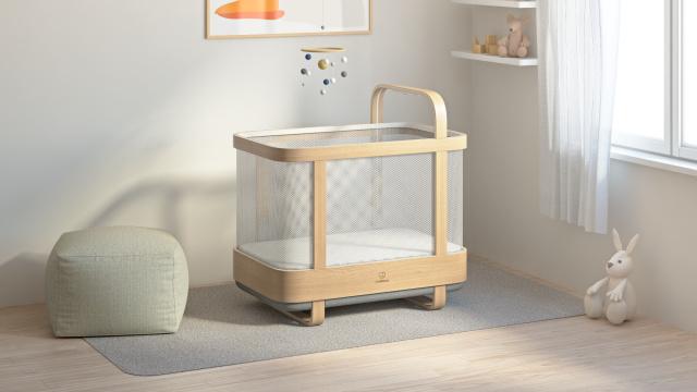 """""""Умная"""" кроватка имеет функцию воспроизведения музыки и способна изучать предпочтения малыша"""