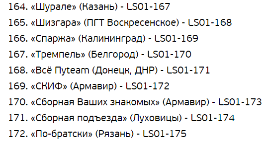"""Список команд на кастинг """"Лиги смеха"""": седьмая часть"""